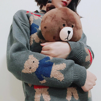 Vanled 2017 элегантный дизайн модный милый Мишка панда Для женщин свитер высокое качество одежда с длинным рукавом Пуловеры для женщин Теплые То...