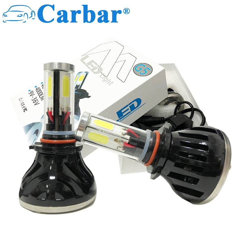 Carbar# G5 6000k Led Headlight Bulbs For Cars Super Bright Headlight Bulbs Conversion Kit Headlamps H7/h8/h9/h11/9005/9006/h4/h1 Car Headlight Bulbs(led) Car Lights
