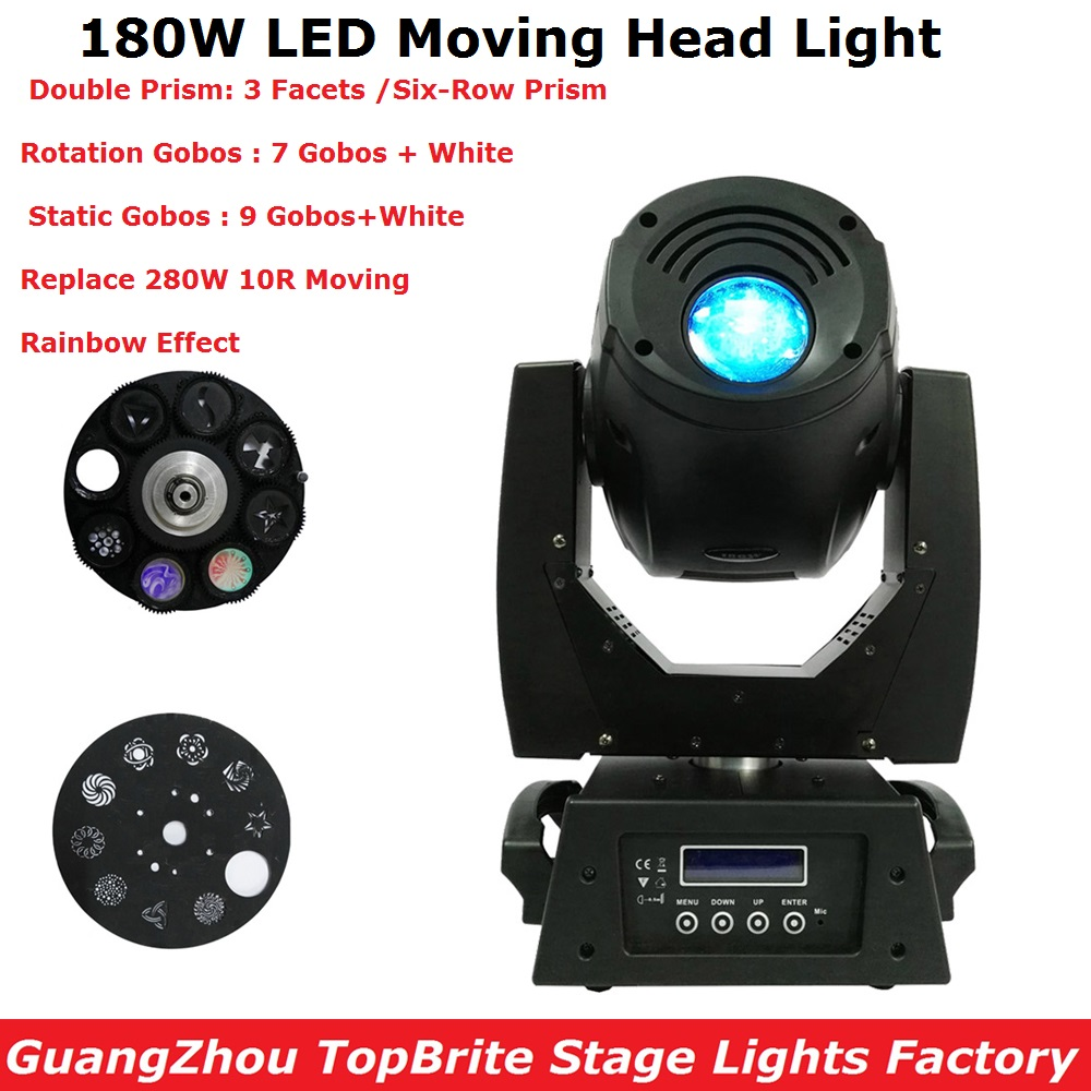 180W Gobo LED Moving Head Lights 3 Facet 3 Facets Prism / Six-Row Prism Effect DMX512 Control For Stage Dj Disco Nightclub Party