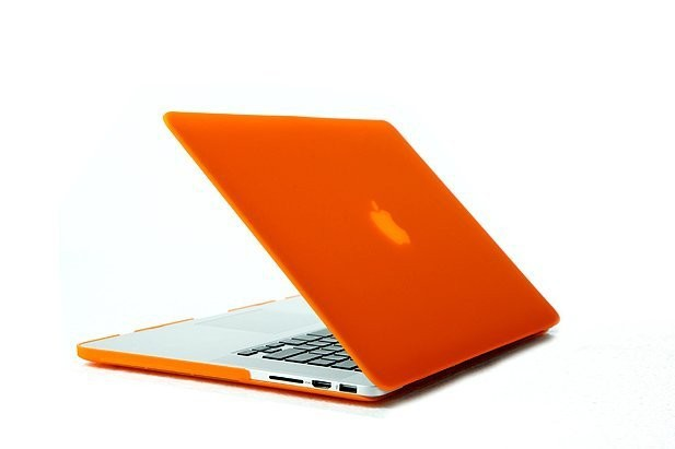 Orange Laptop Sleeve Case for Macbook Mac Book Retina 13 15 inch Matte Rubberized Non-slip Hard Notebook Protector Covers