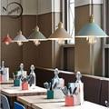 Лофт современный железный подвесной светильник LED E27 промышленный подвесной светильник с 7 видов цветов для гостиной спальни restautant Кафе Маг...