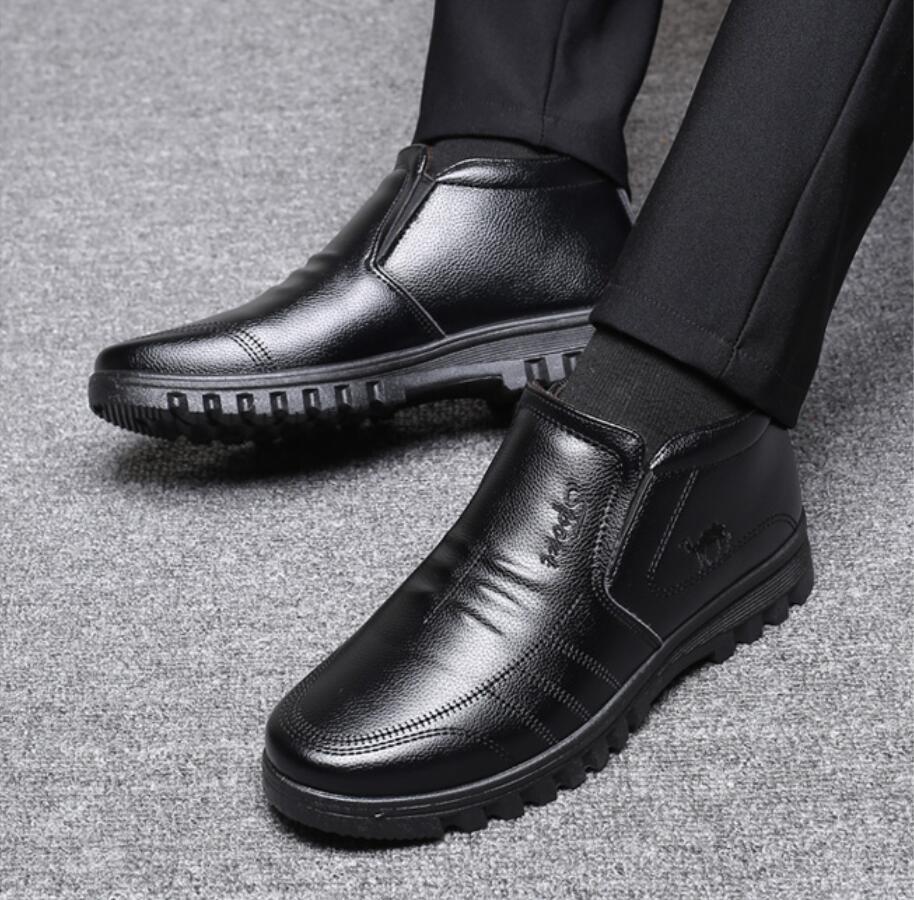 Ботинки мужские зимние утепленные роскошные брендовые теплые
