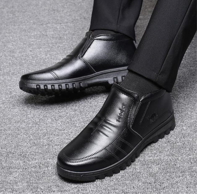 ботинки мужские зимние утепленные роскошные брендовые теплые фотография