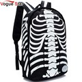 Vogue Star Fashion Canvas Punk Skull Printed Backpacks Waterproof Bookbag Canvas  Backpack Bag Boys Girls School Bag  YK40-574