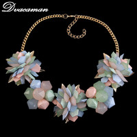 2015 New Lxuury Five Color Crystal Vintage Choker Necklaces And Pendant Statement Necklace Women Jewelry High
