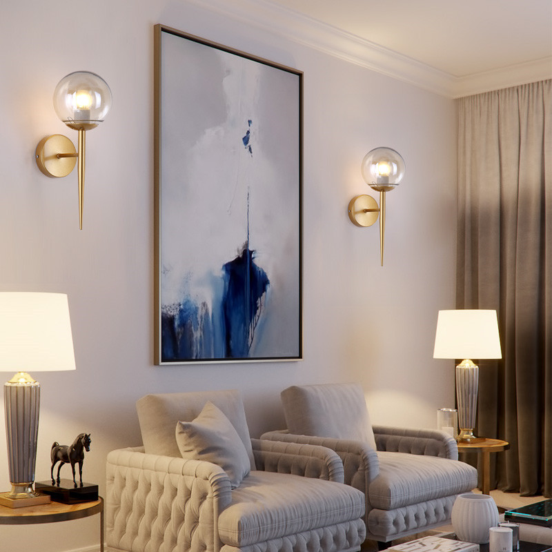 купить Modern Glass Wall Lights Bedroom Living room Wall lamp Hallway Wandlamp Bed light nordic home lighting sconce vintage wall lamp по цене 2520.67 рублей