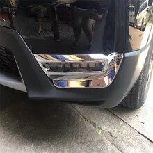 cadc60aaaf16 Coche auto cubrir estilo para Honda CRV CR-V 2017 ABS cromo delantero  cabeza niebla luz de la lámpara accesorios de la etiqueta .
