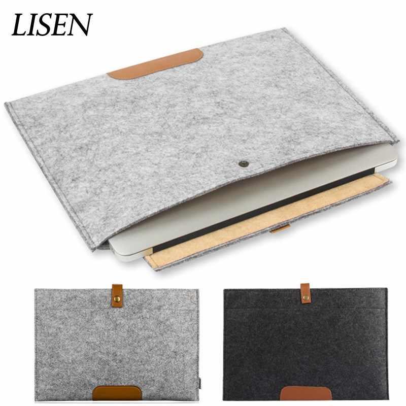 LISEN 新ソフトカジュアルブリーフケースアップルの Macbook Air Pro の網膜 11 12 13 15 ノートブックカバーのため新しいタッチバーバッグ