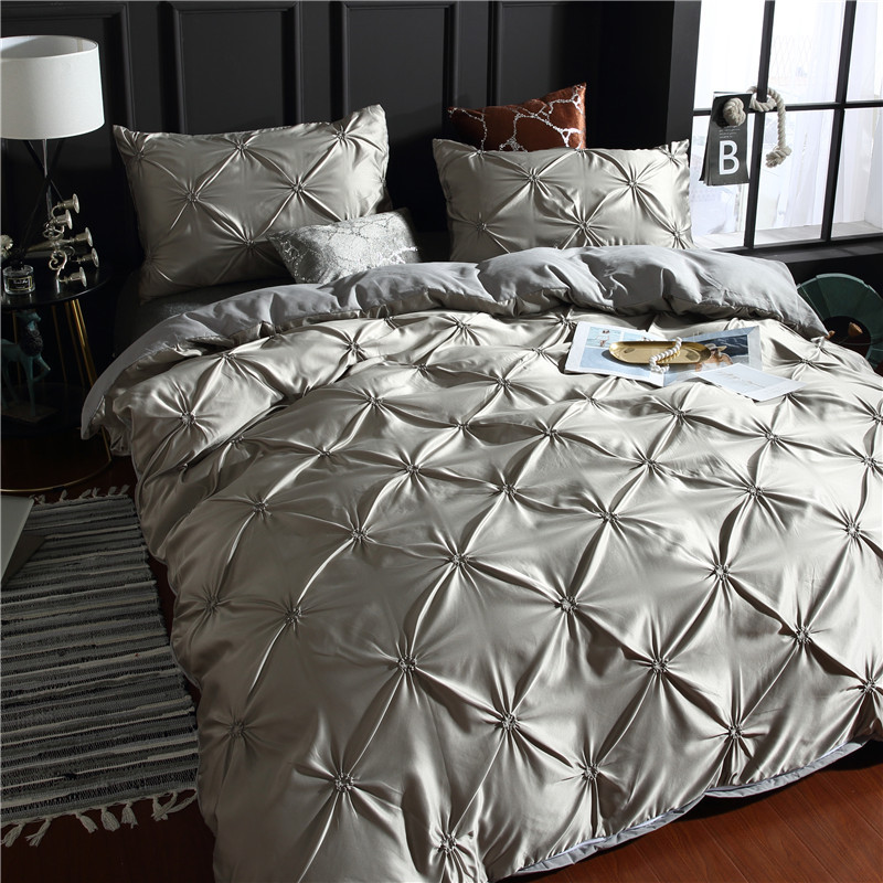 Image 5 - LOVINSUNSHINE Bed Linen Set Duvet Cover King Size Luxury Duvet Cover Bedding Set King Size Silk AC04#-in Bedding Sets from Home & Garden
