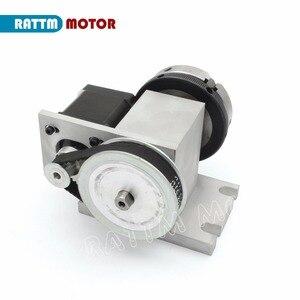 Image 5 - האיחוד האירופי K11 65mm 3 לסת צ אק 65mm 4th ציר & Tailstock CNC חלוקת ראש/סיבוב ציר עבור CNC נתב נגרות חריטת מכונת