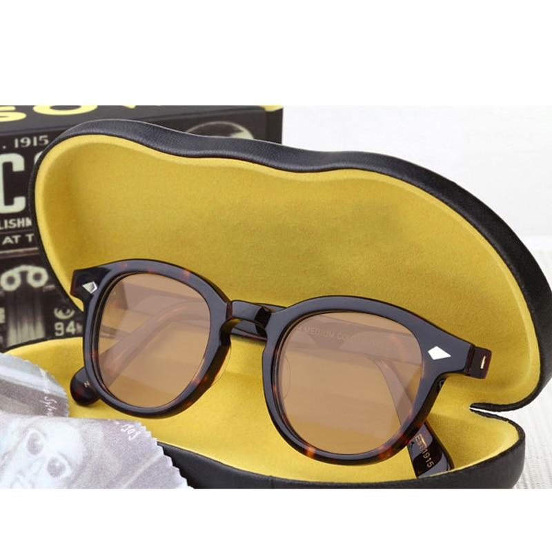Top quality Johnny Depp Sun glasses Acetate Frame Men Woman Brand Designer Polarized Sunglasses Driving Shades With Box SQ080