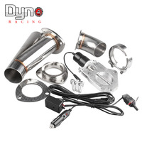 2 2.25 2.5 3 Inch Electric Stainless Exhaust Cutout Cut Out Dump Valve / switch Manual control tp022A+tp023A