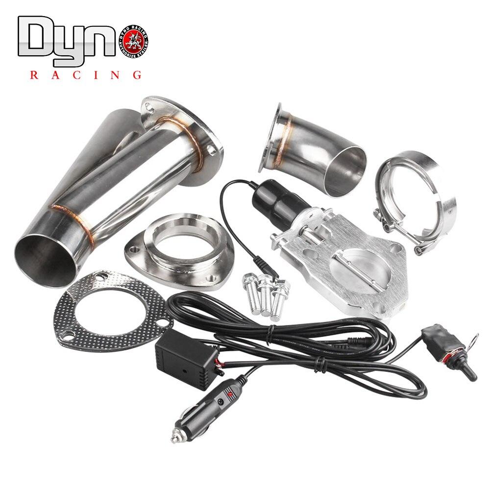 2 2.25 2.5 3 pouces électrique en acier inoxydable échappement découpe soupape de décharge/interrupteur contrôle manuel tp022A + tp023A