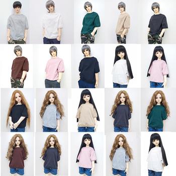 1 3 1 4 1 6 modne ciuchy dla lalek bawełna pół rękawa T-shirt stałe kolorowe akcesoria dla lalki Bjd ubrania zabawki dla dzieci tanie i dobre opinie Tkaniny CN (pochodzenie) Fashion Doll Clothes Cotton Half Sleeve T-shirt Accessories For Dolls Unisex Moda Koszule i bluzki