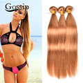 Brazilian Virgin Hair Honey Blonde Ombre Straight Weave  Ombre Human Hair Bundles Brazilian Straight Hair Ombre Hair Extensions