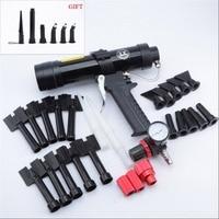 310ml Car Sheet Metal Pneumatic Glue Gun Wave Pattern Glass Caulking Gun Plastic Nozzle Set Tool Equipment Silicone Sealant Tool