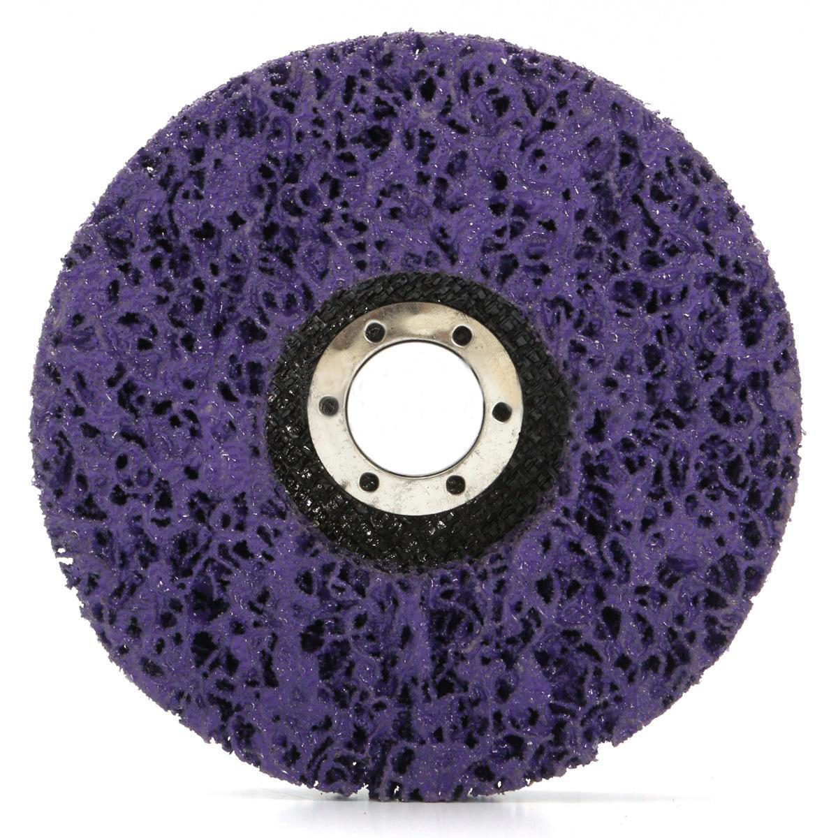 2pcs 125mm Clean Grinding Wheels Paint Rust Removal Poly Strip Disc 40 Grits For Angle Grinder