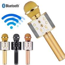 wireless microphone WS858 professional condenser karaoke mic bluetooth stand radio mikrofon studio recording WS 858