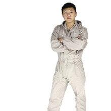 Защитная одежда Мужская Рабочая одежда Защиты Капюшоном комбинезон рабочая одежда Защитная одежда краска пыли верфи быстрое высыхание
