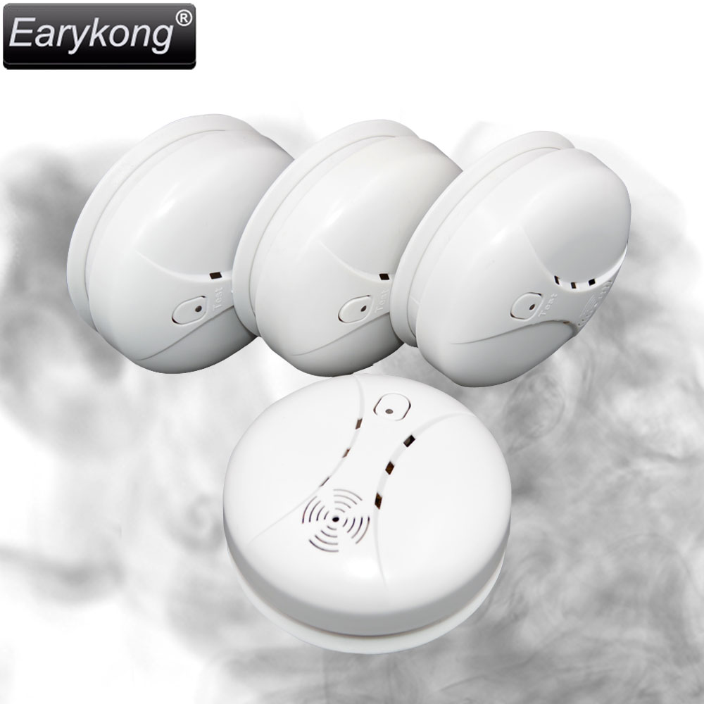 Free Shipping Hot Selling New 433 Wireless Smoke Detector Fire Alarm Sensor for Indoor Home Safety Garden Security SM-03 wireless smoke fire detector for wireless for touch keypad panel wifi gsm home security burglar voice alarm system