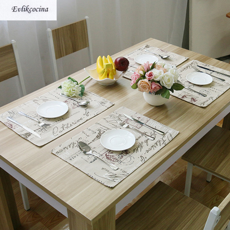 Free Shipping 4 Piece/Lot European Tower Cotton Line Tablecloth Placemats Insulation Pad Plain Coasters Table Mat Napkin
