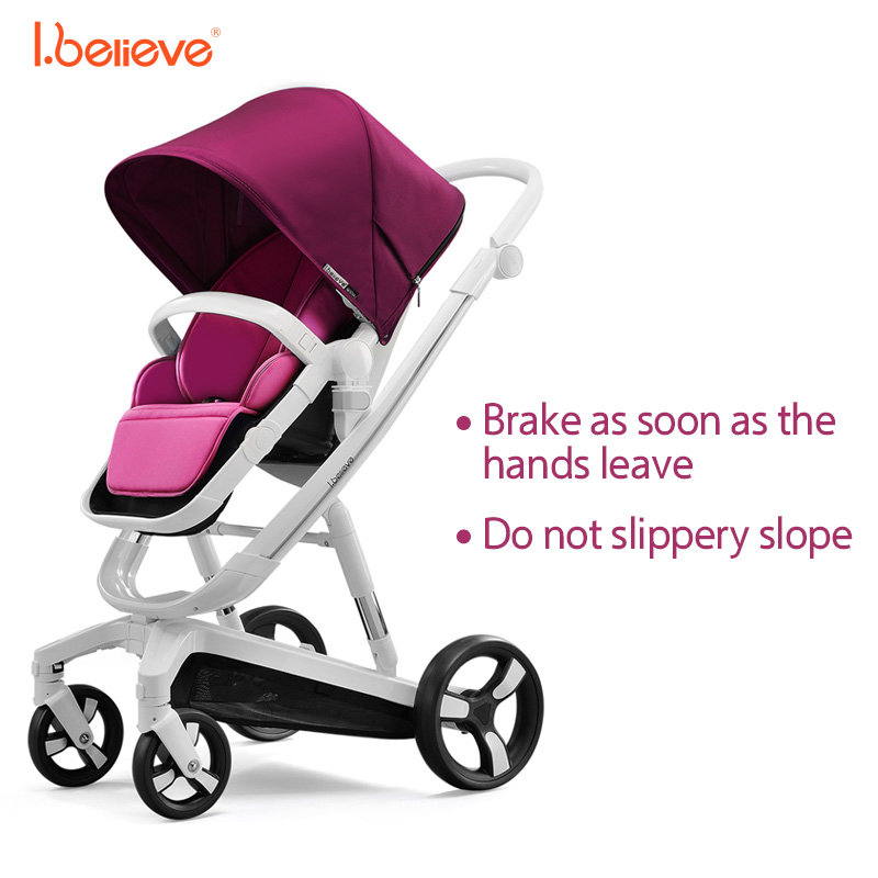 I.believe Baby Stroller I-S035A Intelligent brake Sit&Lie High Landscope Folding Baby Carriage 0-3 Years Prams SGS certification