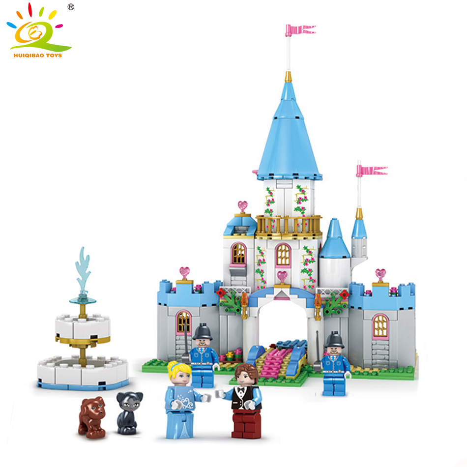 531pcs Cinderella princess dream castle house Building Blocks Compatible Legoed Friends for girl Bricks Education children Toys diy 117pcs princess dream castle park larger particles building blocks toy kids girl best gift compatible with legoed duploe