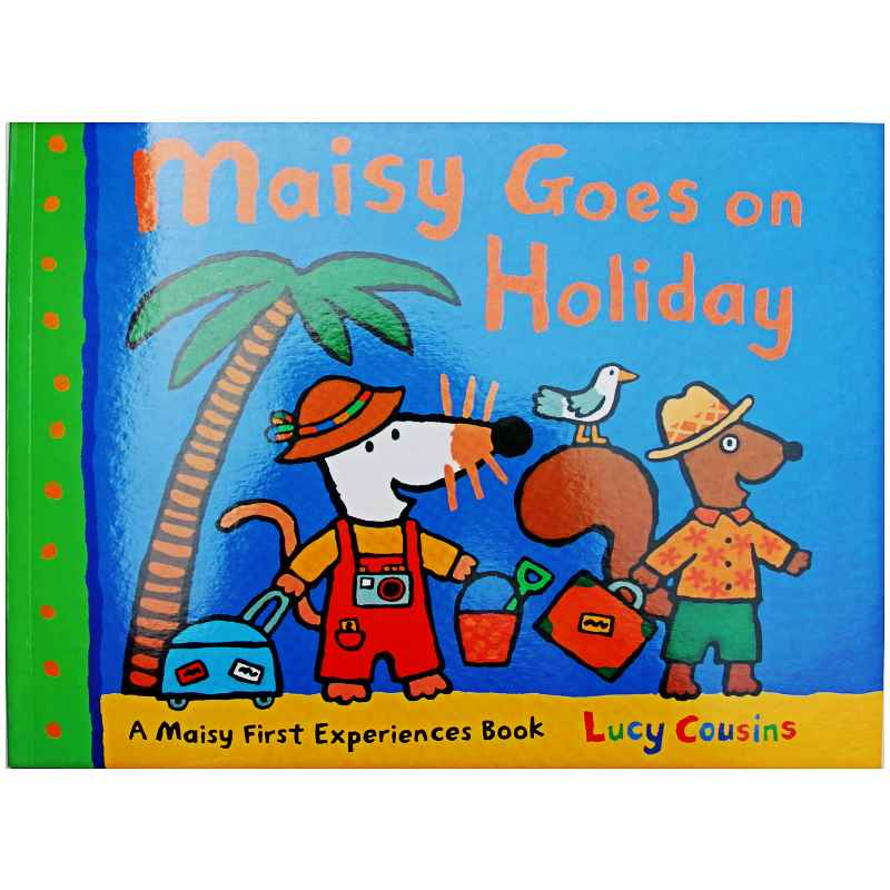Maisy Goes On Holiday By Lucy Cousins Educational English Picture Book Learning Card Story Book For Baby Kids Children Gifts