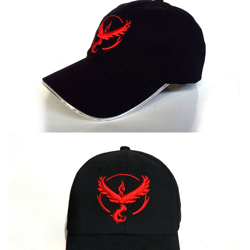 8af7b124334 2017 New LED Light Pokemon Go Cap Hat Team Valor Team Instinct Pokemon Baseball  Cap for ...