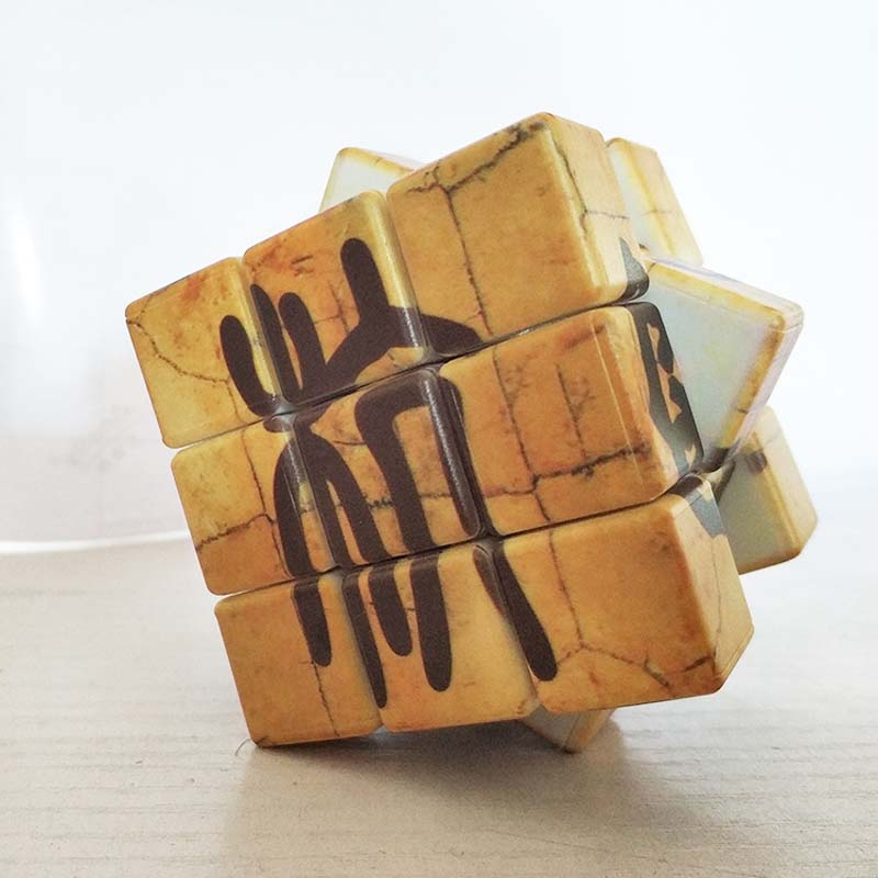 Magic Cube 3x3x3 Oracle Chinese Ancient Character High Difficulty Six-sided Memory Game Speed Puzzle Cube For 6 Years Old