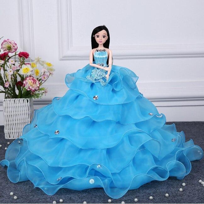 חם למכור 45cm שמלת כלה בובה Top כיתה צעצועים אוסף קבל בובות נשוי יום הולדת מתנה עבור בנות מתנה לילדים 10
