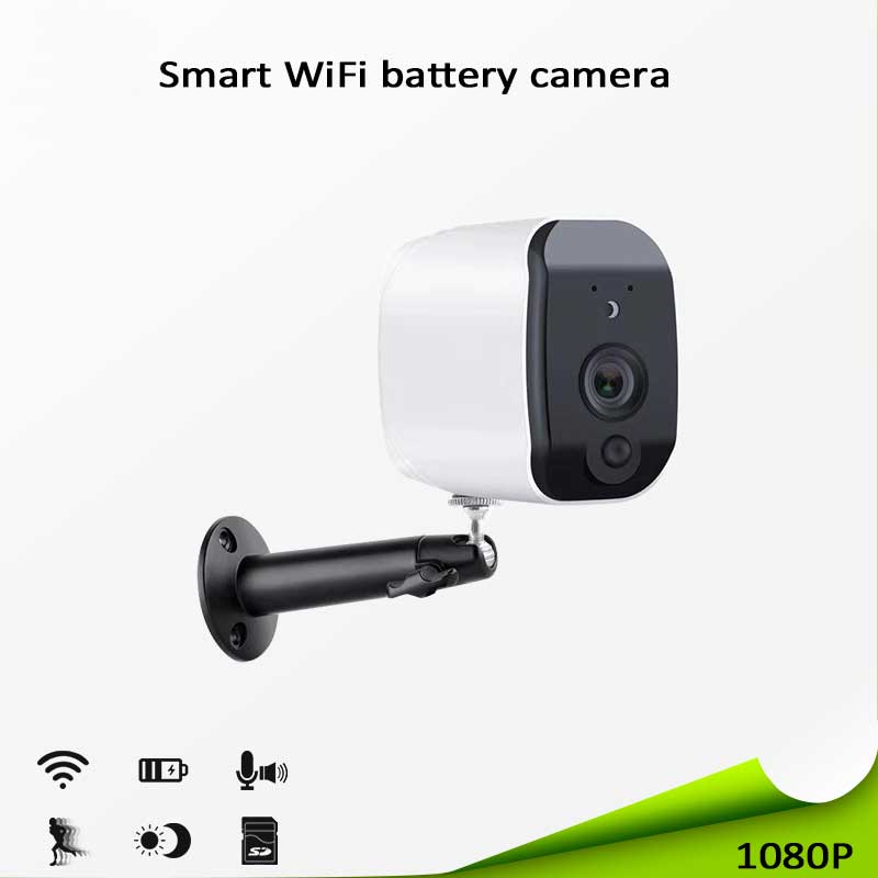 WiFi Battery Powered Security IP Camera 1080P Wireless Smart Home CCTV Surveillance Camera PIR Motion Detection Night VisionWiFi Battery Powered Security IP Camera 1080P Wireless Smart Home CCTV Surveillance Camera PIR Motion Detection Night Vision