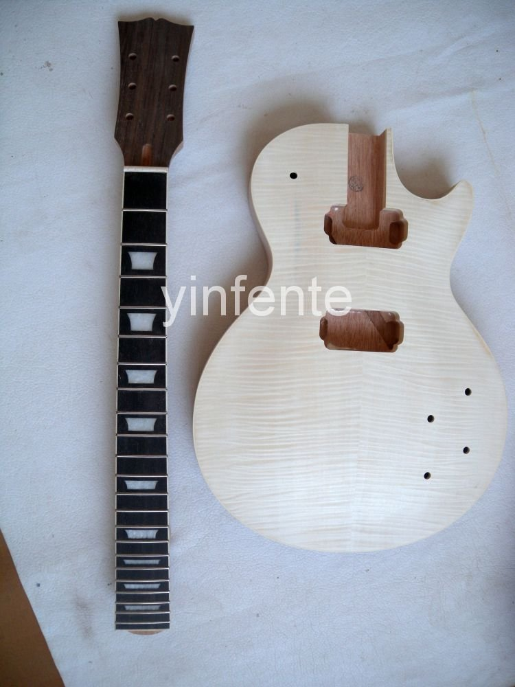 New High Quality Unfinished electric guitar neck guitar Body Solid wood Body & fingerboard L model 1pcs #4 high quality custom shop lp jazz hollow body electric guitar vibrato system rosewood fingerboard mahogany body guitar