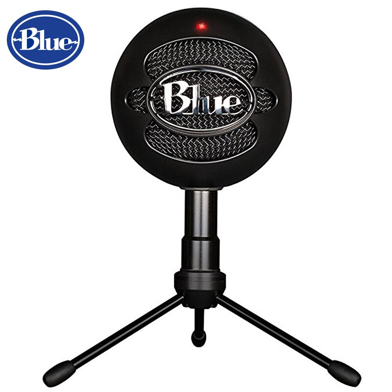 Blue Snowball ice USB Condenser Microphone Cardioid for computer recording and boardcasting Black