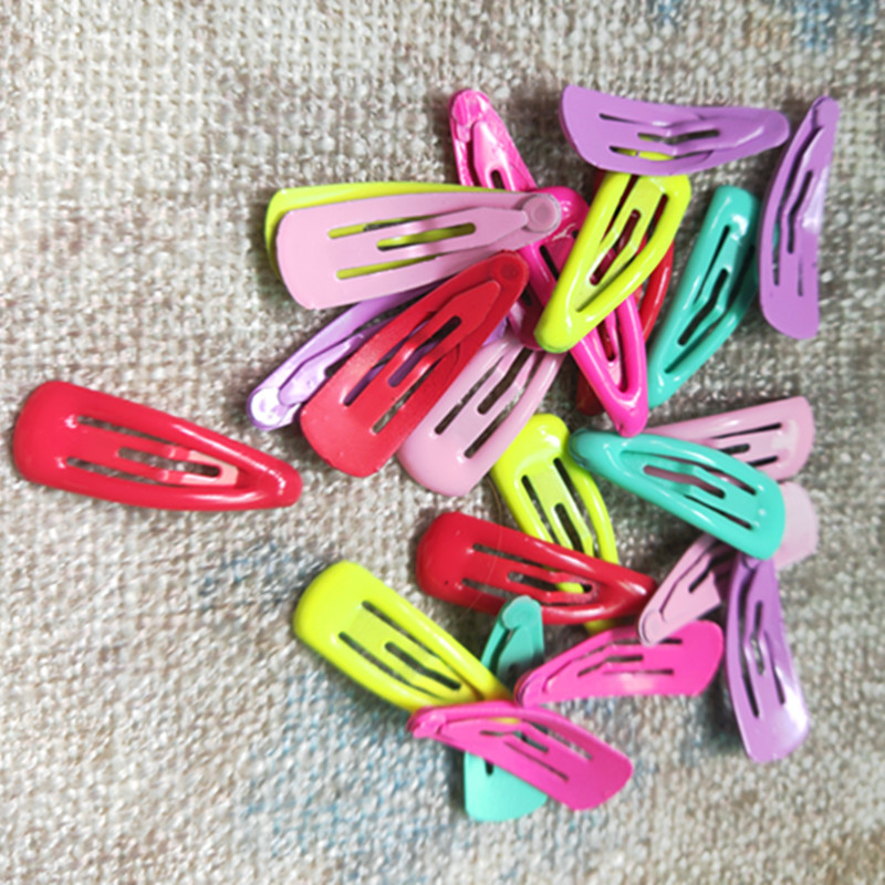 2019 2.5 BB Clip Pet Hairpin Dog Accessories Mini Paint Small Hair Clip Ice Cream Color  Baby Hair  Water Drop Clip 100pcs/lot