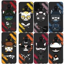 MA Hot Cute rainbow six siege Man Style Phone Case Cover For Samsung Galaxy S6 S7 edge S8plus S9plus S10plus lite Soft