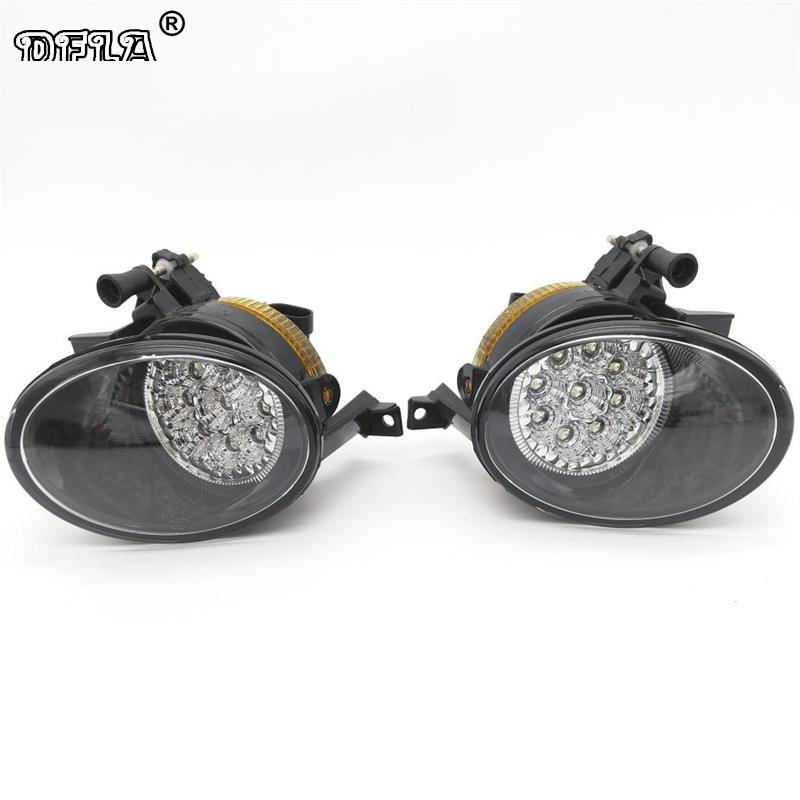 Car LED Light For VolksWagen VW Golf 6 MK6 Variant Plus Cabriolet 2009-2013 Car-Styling Front Bumper 9 LED Fog Light Fog Lamp hot sale abs chromed front behind fog lamp cover 2pcs set car accessories for volkswagen vw tiguan 2010 2011 2012 2013