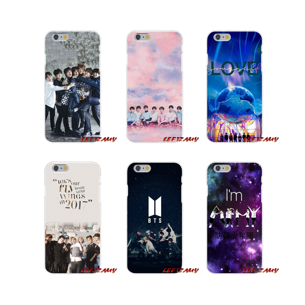 Half-wrapped Case For Iphone X Xr Xs Max 4 4s 5 5s 5c Se 6 6s 7 8 Plus Ipod Touch 5 6 Kpop Bts Firma Amare Se Stessi Bangtan Bt21 Tpu Shell Covers Cellphones & Telecommunications