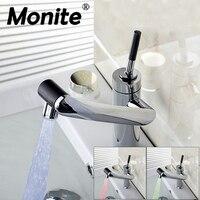 E Pak YANKSMART Modern LED Water Tap Bathroom Sink Faucet Robinet Salle De Bain Basin Faucet