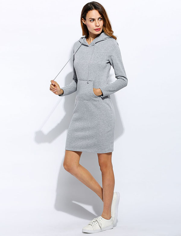 2017 Women Summer Autumn Dress Sexy Casual Swaetshirt Dress Tops Blusas Fashion Elegent Dresses Vestidos Long Sleeve Dress 8