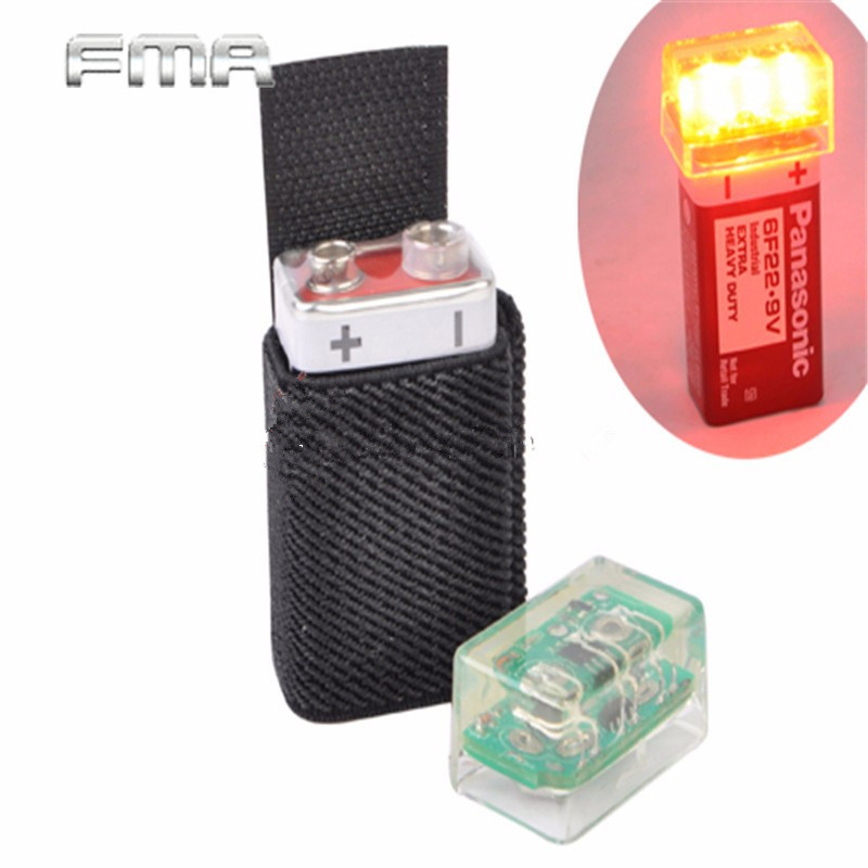 FMA Knvir-14 Signal light Marker Beacon Green Light Black Outside Hunting Military Tactical Airsoft Paintball Helmet Accessory