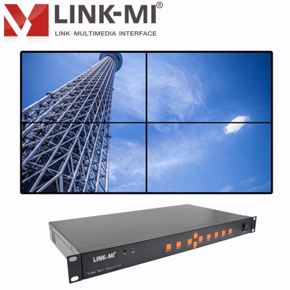 LINK-MI TV04U HDMI+VGA+AV+USB LED/LCD 2x2 Video Wall Controller Support 180 Degree Rotation Splicing Processor 1x3 3x1 4x1 проектор tv hd hdmi led av vga usb sd v576