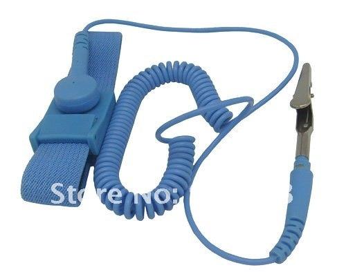 Антистатик ESD регулируемый браслет для ремня Синий