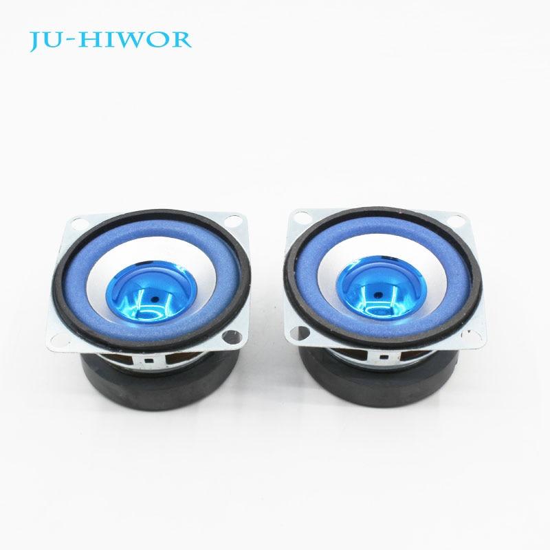 2pcs 3 Ohm 5W 53MM Musical Flowerpot Loudspeaker 45mm External Magnetic Speaker Foam Blue Edge Bright Cap Height 30mm