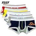 Tqqt 3 peças/lote impressão dos homens underwear underwear plus size dos homens boxers de algodão man boxer shorts boxers impressão mix 3 cores 5U0402