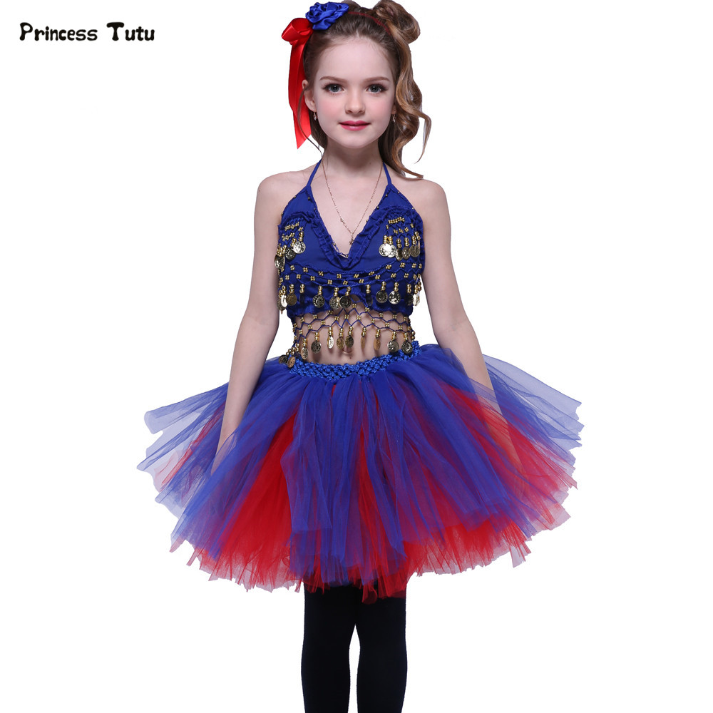 Princess Tutu Skirt Set Blue Red Girl Clothing Sets Kids Party Costumes Children Girl Dance Outfit Performance Stage Clothes baltarini сандалии