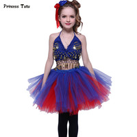 Princess Tutu Skirt Set Blue Red Girl Clothing Sets Kids Party Costumes Children Girl Dance Outfit Performance Stage Clothes