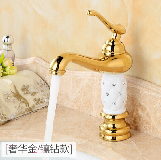 ФОТО fashion high quality Europe style chrome or gold finished bathroom single lever sink mixer basin faucet,basin faucet