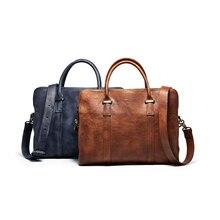 men's travel bag,business Leather laptop bag men bag men's briefcase Tote shoulder laptop Genuine leather men messenger bags