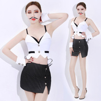 Jazz Dance Costumes Bar Ds Costumes Role OL Uniforms Sexy Nightclub DJ DS Stage Clothes For Singers Performance Wear